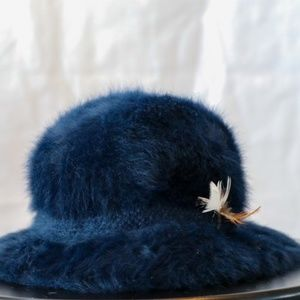 Kangol Hat with Braiding and Feather Detailing